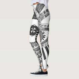 Musical pattern. leggings