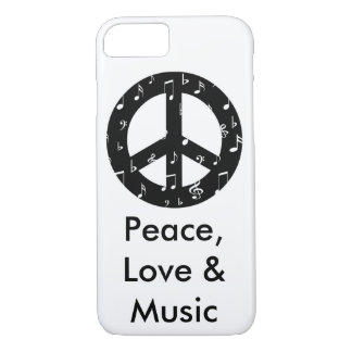 Musical Peace Sign Barely There iPhone 7 Case