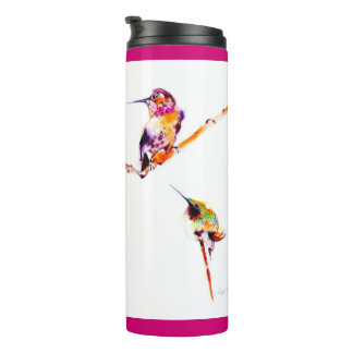 """Musical Perches"" Hummingbird Print Thermal Tumbler"