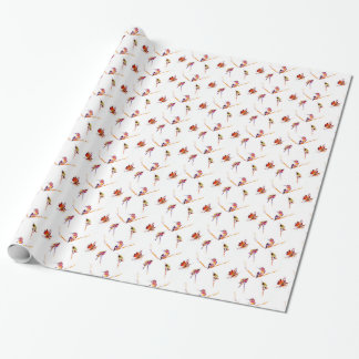 """Musical Perches"" Hummingbird Print Wrapping Paper"