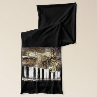 Musical Piano Keys Scarf