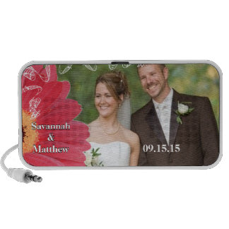 Musical Pink Gerber Your Wedding Anniversary Photo Mp3 Speakers