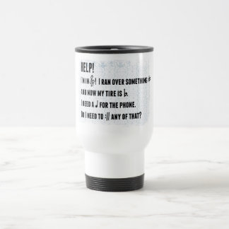 Musical play on words travel mug
