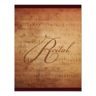 Musical Recital Antique Sheet Music Custom Card