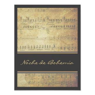 Musical Recital Concert Classic Sheet Music 11 Cm X 14 Cm Invitation Card