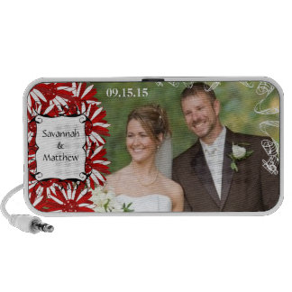 Musical Red Gerber Your Wedding Anniversary Photo Speaker