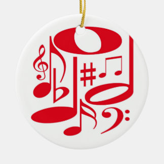 Musical Red Ornament