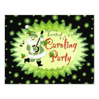 Musical Santa Elf Christmas Caroling Party Invitat 11 Cm X 14 Cm Invitation Card
