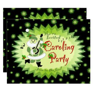 Musical Santa Elf Christmas Caroling Party Invitat Card