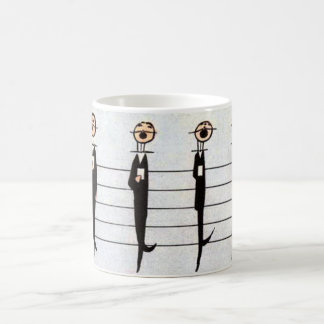 musical scale, from man to note magic mug