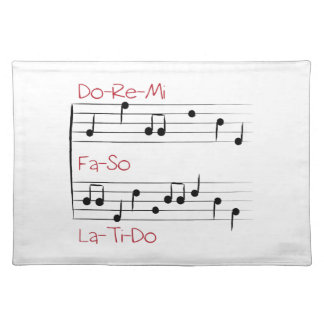 Musical Scale Cloth Place Mat