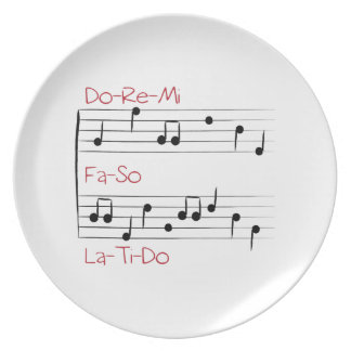 Musical Scale Party Plates