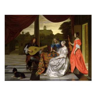 Musical Scene in Amsterdam Postcard