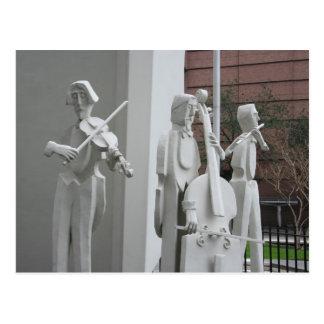 Musical Sculpture Postcard