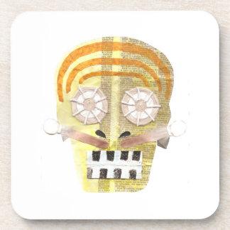 Musical Skull Cork Coasters