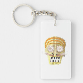 Musical Skull Double Sided Keyring
