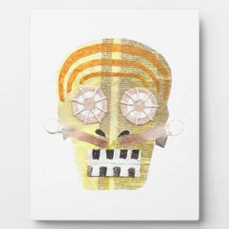 Musical Skull No Background on an Easel Plaque