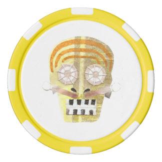 Musical Skull Poker Chips