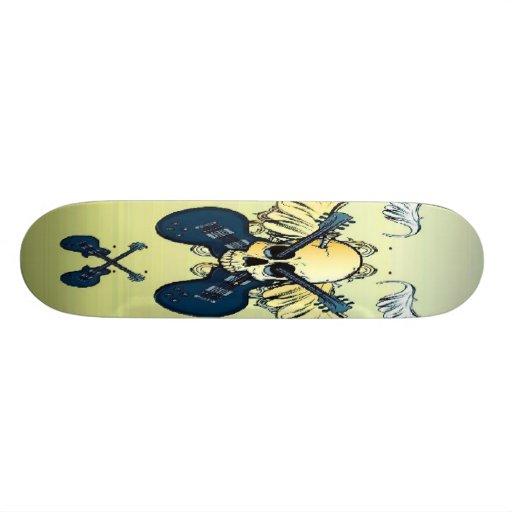 Musical Skull Skateboard