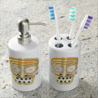 Musical Skull Soap Dispenser and Toothbrush Holder