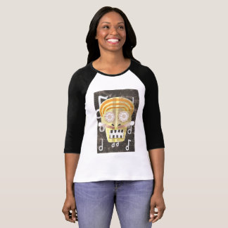 Musical Skull Three Quarter Length Women's Top
