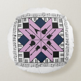 Musical Square Round Cushion