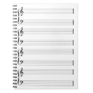 Musical Staff and Staves Notebooks