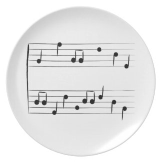 Musical Staff Plate