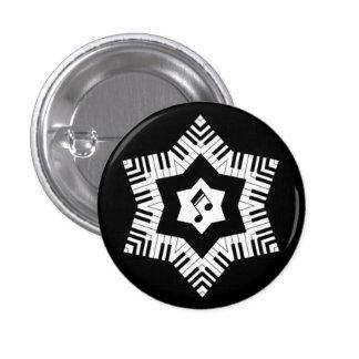 Musical Star 3 Cm Round Badge