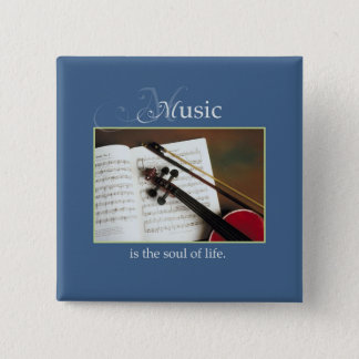 Musical Strings, The Soul of Life, Traditional 15 Cm Square Badge