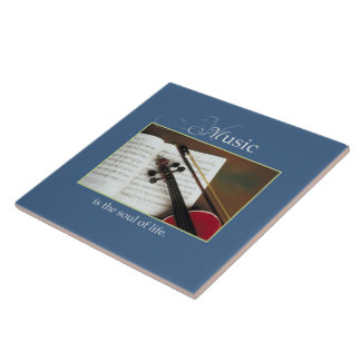 Musical Strings, The Soul of Life, Traditional Large Square Tile