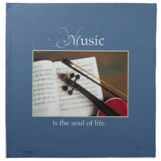 Musical Strings, The Soul of Life, Traditional Napkin
