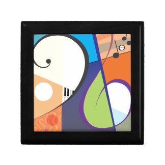 Musical Symbol Design Small Square Gift Box