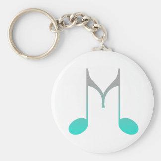 """Musical Symbol """"M"""" Key Ring"""