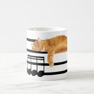 Musical tabby kitty cat coffee mug