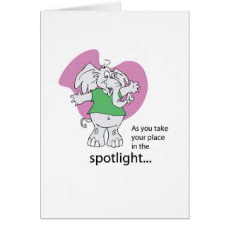 Musical Theater, Seussical, Elephant Good Luck Card