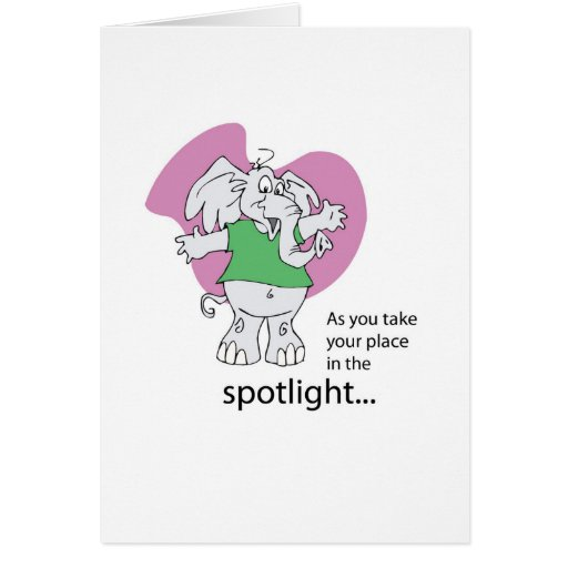 Musical Theater, Seussical, Elephant Good Luck Cards
