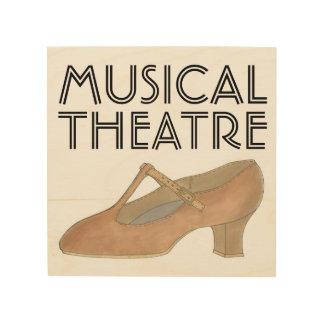 Musical Theatre Tan Character Dance Shoe Teacher Wood Wall Decor
