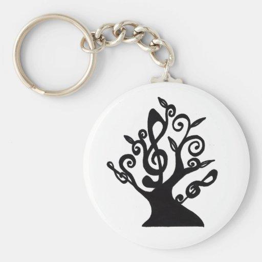 Musical Tree Key Chain