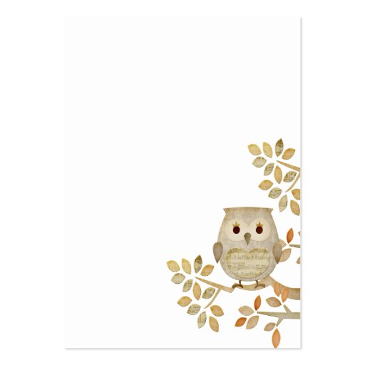 Musical Tree Owl Business Card