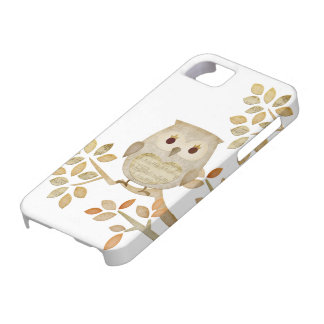 Musical Tree Owl Case Barely There iPhone 5 Case