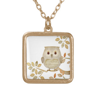 Musical Tree Owl Necklace