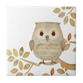 Musical Tree Owl Tile