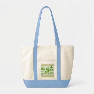 Musical Trees Blue Impulse Tote Bag