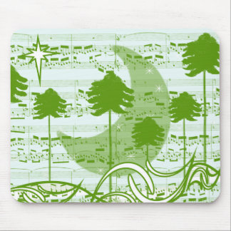 Musical Trees Blue Mouse Pad