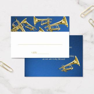 Musical Trumpet Bar Mitzvah Seating Card