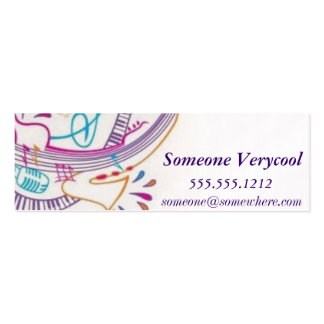 Musicality Introduction Pack Of Skinny Business Cards