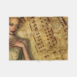 Musically Inspired Romantic Fleece Blanket