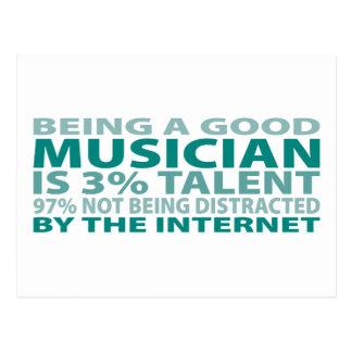 Musician 3% Talent Postcard