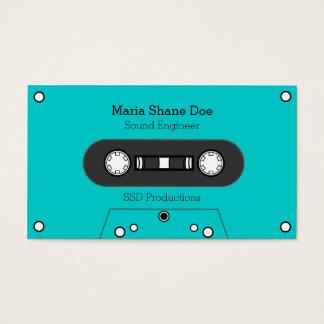 Musician 80's Tape Mix Business Card